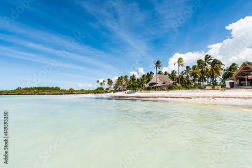 Printed kitchen splashbacks Zanzibar beautiful view of Zanzibar island and blue sky from ocean