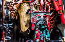Colorful Traditional Woodcarve...