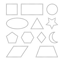 Geometric Shapes Vector Symbo...