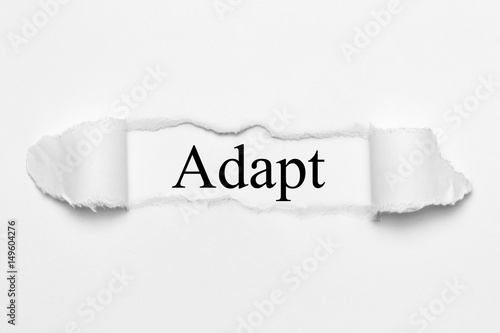 Adapt on white torn paper Wallpaper Mural