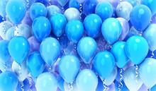Many Balloons Blue Background