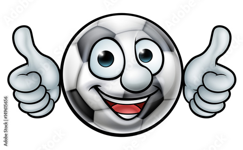 Photo  Soccer Football Ball Mascot