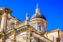 Cathedral Exterior Dubrovnik. ...