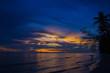 THAILAND - April 29, 2017:Beautiful Nature of Sunset Over the Sea with Twilight Sky at Ban Chuen Beach ,Trat