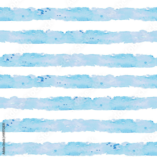 Printed kitchen splashbacks Watercolor Illustrations Stripes. Watercolor seamless pattern.