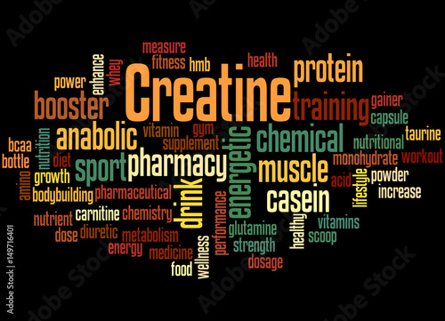 Fotografia  Creatine, word cloud concept 5