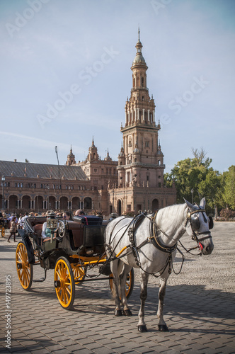 Fototapety, obrazy: Sevillian carriage