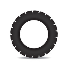 Simple Black Tractor Tire - St...