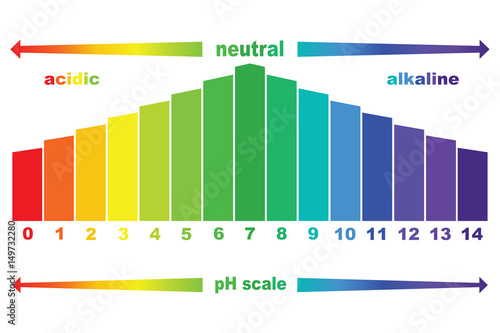pH scale value , vector isolated Canvas Print