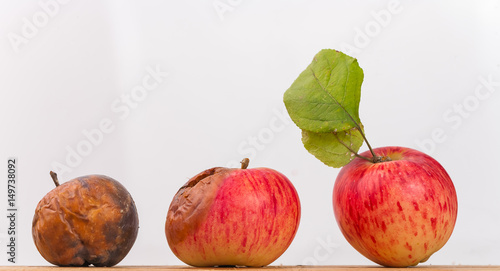 Rotting apple Fototapet
