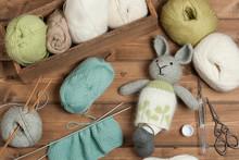 Handmade Knitted Rabbit Soft T...