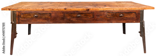 Obraz vintage workbench table - fototapety do salonu