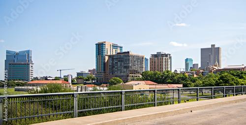 fort worth texas city skyline and downtown Fototapeta