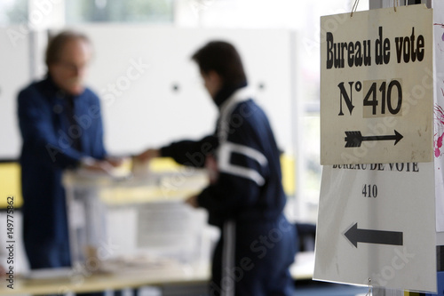 A voter casts his ballot in strasbourg eastern france as the