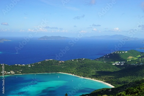 Fotografie, Obraz  A view of Magens Bay with Jost Van Dyke (BVI) and Tortola (BVI) island on the background