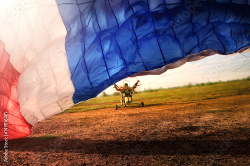 Spoed Fotobehang Luchtsport Paramotor flying