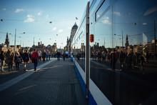 Amsterdam Tram Leaving Central...