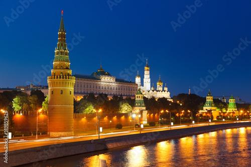 Moscow Kremlin at night плакат