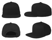 Mock Up Blank Flat Snap Back H...