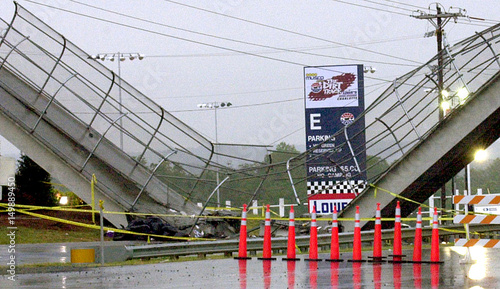 BRIDGE COLLAPSE NEAR LOWES MOTOR SPEEDWAY  - Buy this stock