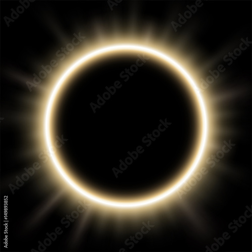 Photo  Rounded white light illuminated, Suitable for product advertising, product design, and other