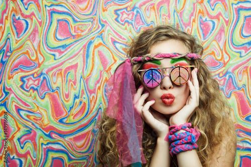 Photo  Hippie girl