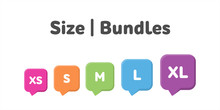 Different Size Bundles Icons S...
