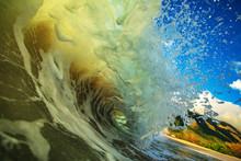 Ocean Splashed Wave In Rip Cur...