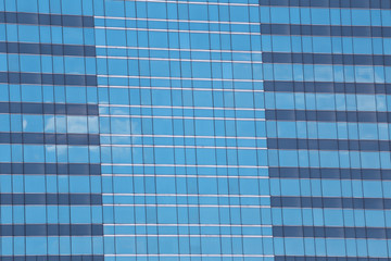 Blue Glass of Business tall buildings.