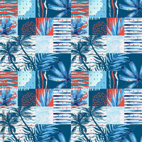 akwarela-tropikalny-lato-wzor