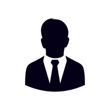User Icon Of Man In Business S...