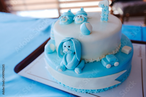 Astounding Birthday Cake For 1 Year Old Boy Buy This Stock Photo And Personalised Birthday Cards Cominlily Jamesorg