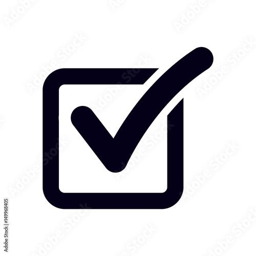Fotografía Check list button icon. Check mark in box sign.
