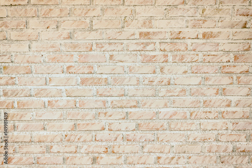 Foto op Plexiglas Wand Background of old vintage dirty brick wall with peeling plaster, texture