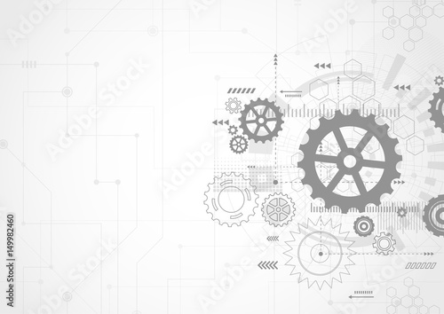 Abstract Technology Background Wallpaper Mural