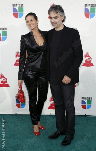 Italian singer Andrea Bocelli pose at the 8th annual Latin