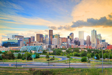 Panorama Of Denver Skyline At ...