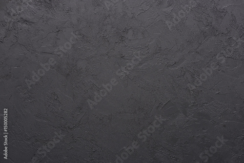 Tuinposter Stof Black stone horizontal texture, sharp and detailed