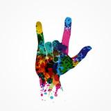 geste main,rock-métal