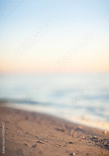 Deurstickers Zalm Seashore during sunset. Beautiful natural concept and idea