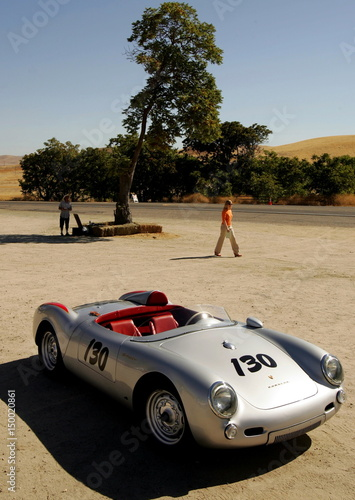 A replica of a Porsche 550 Spyder, similar to that owned and