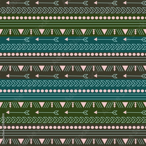 Foto auf AluDibond Boho-Stil boho pattern