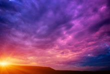 Photo Of A Violet Sunset With ...