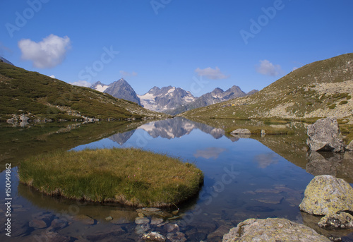 Poster Taupe Beautiful mountain lake in the mountains of Arkhyz. the Caucasus. Russia