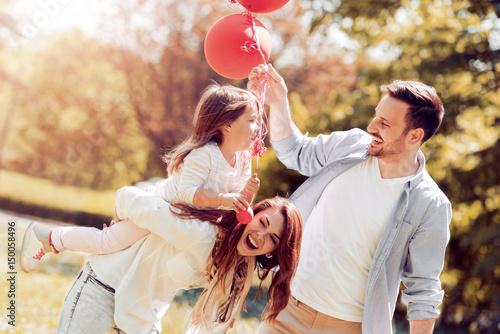 Zdjęcie XXL Szczęśliwa rodzina zabawy