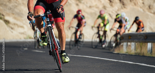 Photo sur Toile Cyclisme Cycling competition,cyclist athletes riding a race at high speed
