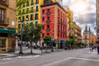 Calle Mayor in Madrid, Spain. Calle Mayor is one of the main streets of Madrid