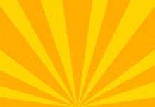 Grunge Sunburst Orange Abstract Background
