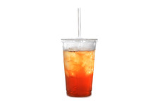 Iced Tea In Plastic Cup With S...