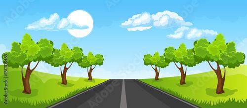In de dag Lime groen Rural summer landscape